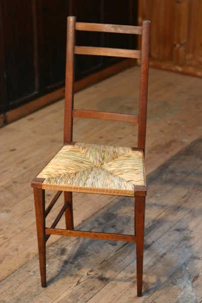 rush bottom chapel chair